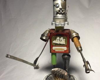Pirate of Tin-Canz • Assemblage Art Robot Sculpture