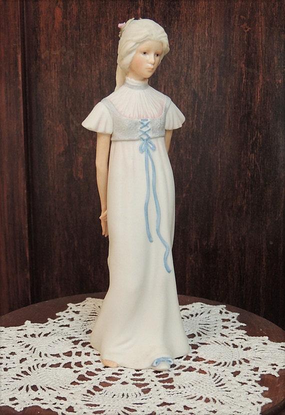 "Vintage Cybis Bisque Porcelain young Women Figurine ""BETTY BLUE"".. Signed CYBIS"