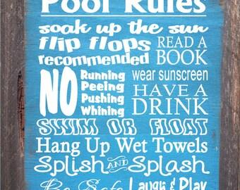 pool sign,  pool decor, Pool Rules Sign, pool house decor, pool house sign, swimming pool sign, pool decoration, 44/38