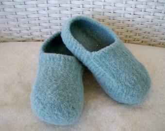 Sea Foam Wool Slippers felted wool slippers womens slippers wool slippers felted slippers wool house shoes boiled wool slippers women