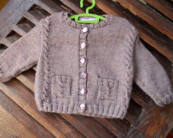 Cable Cardigan with pockets 3 months