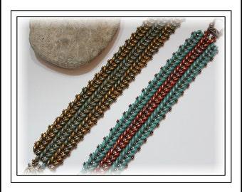 Tutorial ~ SuperDuo Herringbone Bracelet by Reggie's Creations ~ Beaded Bracelet Pattern