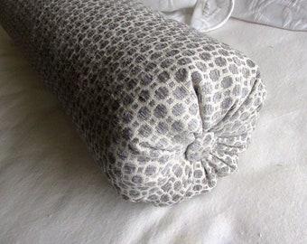 platinum gray chenille decorative Bolster Pillow 6x14  6x16  6x18  6x20  6x22