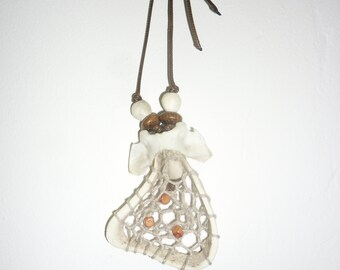 """Dream Catcher """"Fox"""" from the Horn and bone."""