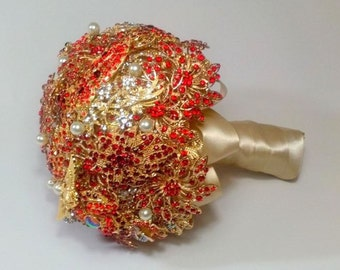 Brooch Bouquet - Alternative Bouquet - Crystal Bouquet - Wedding Bouquet - Bridal Bouquet - Custom Bouquet - Broach Bouquet - DEPOSIT