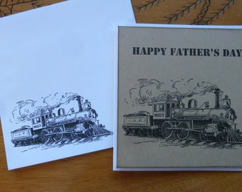 Greeting Card -Father's Day Card 12x12, Train Card - Train