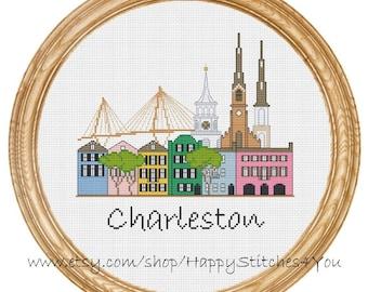 Cross Stitch Pattern PDF Charleston city DD0153