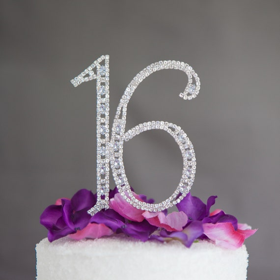 Sweet Sixteen 16 Cake Topper 16th Birthday Party Decoration