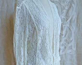SUMMER SOLSTICE SALE White Lace Jacket