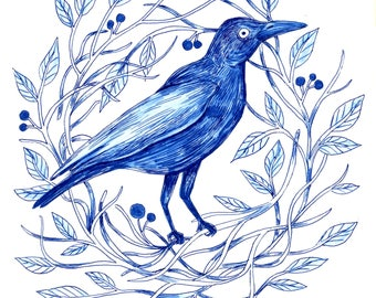 Blue Bird - Print