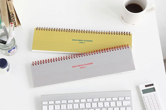 DESK MEMO PLANNER Weekly scheduler planner calendar