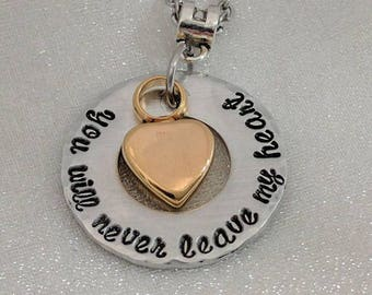 Gold Heart Urn Jewelry - Memorial Keepsake - Urn Necklace - Sympathy Gift - Grief Jewelry - Urn for Ashes Jewelry - Cremation Urn Necklace