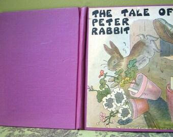 The Tale of Peter Rabbit, Beatrix Potter, Platt and Munk, Watty Piper, Never Grow Old Series, Vintage Hardback 1928