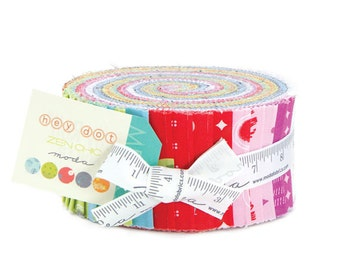 Hey Dot Jelly Roll by Brigitte Heitland for ZEN CHIC for Moda Fabrics #1600JR 100% Cotton