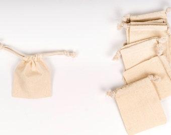 96 -- 3 x 4 Natural Cotton Muslin Drawstring Bags| Wedding Favor Bags| Favor Bags| Muslin Bags| wedding| wedding favors| Muslin Bags| Bags