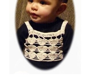Infant, Toddler, Child Crochet Hearts Top pattern in pdf