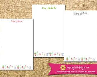 Personalized Gardening Notepad - mom kid child children flower teacher to do list gift list pad custom garden personalize monogram holiday