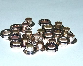 1/4 Inch Diameter Silver Plated Eyelets Package of 24