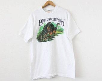 LARGE Vintage 1980s Behold Now, Behemoth T-Shirt