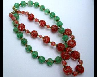 Vintage Necklaces Handmade Glass