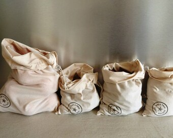 Bulk bags. Waste free. By lots. 100% washed cotton.