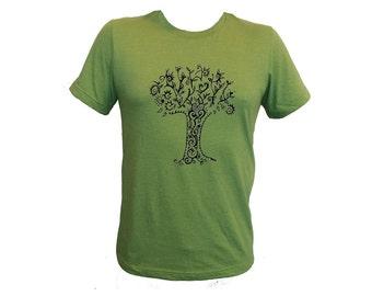 Unisex Tree Green Adult Tshirt PolyCotton Tee Small Medium Large