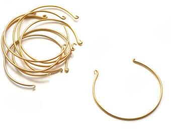 Bangle Bracelet - Gold Plated over Brass - 1 pc
