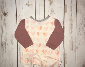 Baby girl romper- Toddler girl romper- Coming home outfit- Harem romper- Long sleeve romper- Girl outfit