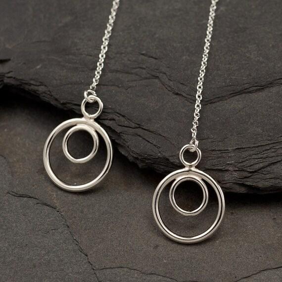 Long Sterling Silver Earrings- Long Chain Earrings- Silver Dangle Earrings- Threader Earrings- Drop earrings- silver jewelry