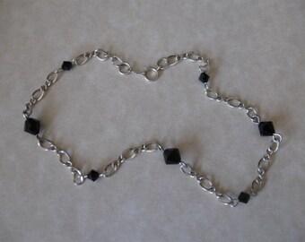Sterling Silver & Swarovski Anklet