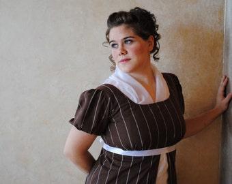 Two color CUSTOM Regency Jane Austen Cotton Day Dress