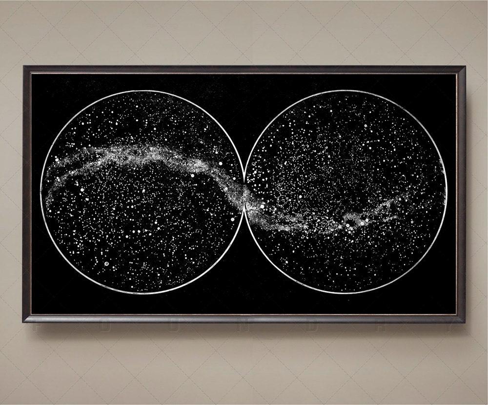 Gráfico de estrellas celestes constelaciones del hemisferio