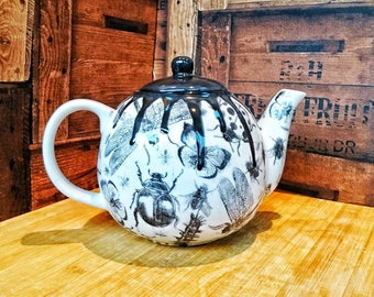 Unique teapot, bug tea kettle, gothic tea-pot, unique tea pot, 4 cup teapot, large teapot, birthday gift, weird and wonderful ceramics