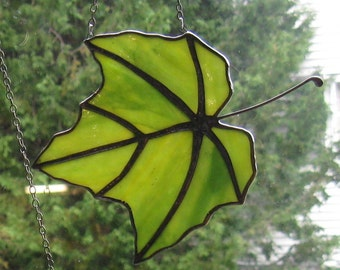 Stained Glass Maple Leaf # 16