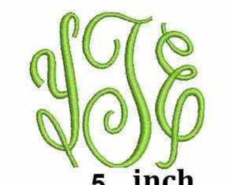 Chamberlain Fancy 5 inch Monogram Embroidery Font