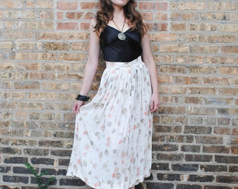 Rust and Salmon Floral Maxi