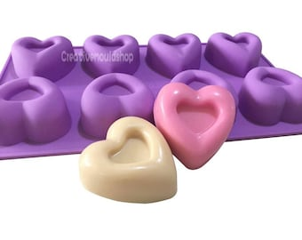 8-heart Cake Mold Soap Mould Candle Candy Chocolate mold Resin Crafts mold Silicone Mold stampi in silicone bath bomb mold