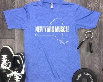 New york muscle mens shirt, new york shirt, new york, workout shirt, mens workout shirt, workout motivation, muscle shirt, gym shirt, Ny tee