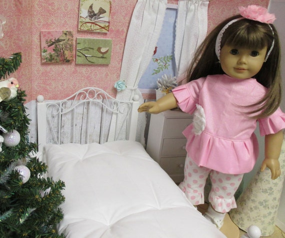 Doll White Comfort Style Mattress-18 inch Doll Size