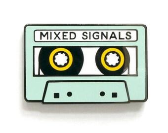Mixed Signals enamel lapel pin