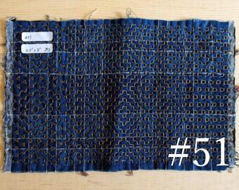 Hitomezashi Sashiko Swatch | Small hand-stitched fabric
