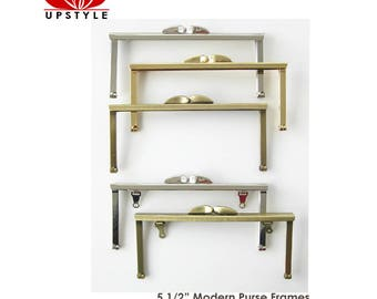"""Small Metal Purse Frame 5 1/2"""" Nickel Silver Gold Antique Gold - Ships from USA"""