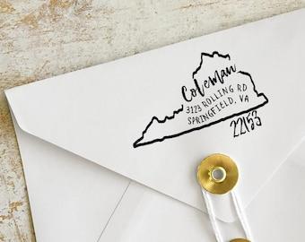 Virginia Stamp, Custom Virginia Address Stamp, Custom Virginia Address Stamp