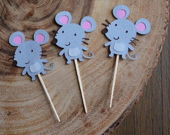 Mouse/mice cupcake toppers, Woodland Theme Party