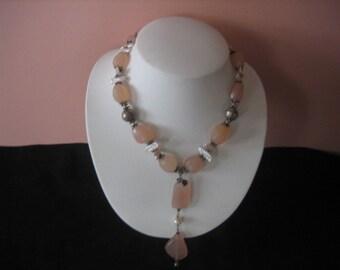Vintage Quartz and Pearl Necklace