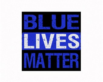 Full color Blue Lives Matter decal (Endorsed by the official Blue Lives Matter, www.bluelivesmatter.blue)