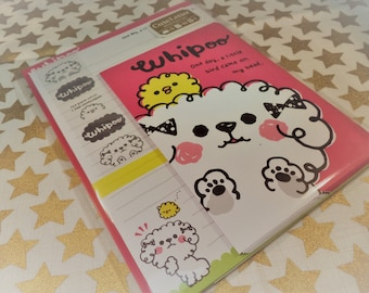 Kawaii 16 Pc. Whipoo Pink Letter Stationery Set  great for Scrapbooking, Notes, Letter, Snail Mail, Pen pal, School, Paper, Stationery, Diy.
