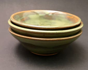 Green Small Bowls Set
