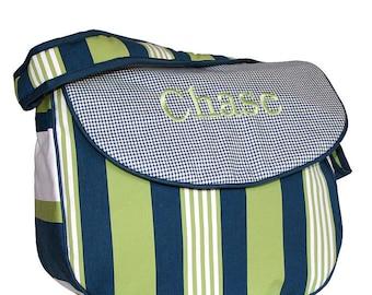 Monogrammed Messenger Diaper Bag - Lacrosse