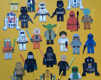 Star Wars cupcake toppers,  Star Wars inspired cupcake toppers, Star Wars Lego toppers, Star Wars party, Lego Star Wars, Star Wars party